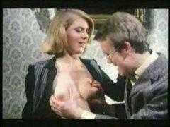 Немецкий ретро секс-фильм: красивая блондинка сосет и трахается