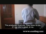 Видео секс- кастинг: русская колхозница на работу устраивается через постель