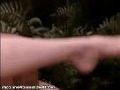Винтажное порно стройной блондинки в джунглях